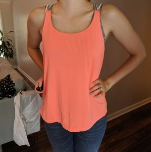 Athletic tank top + built in bra